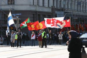Mayday Demonstrations in Helsinki, Finland May 1 2013