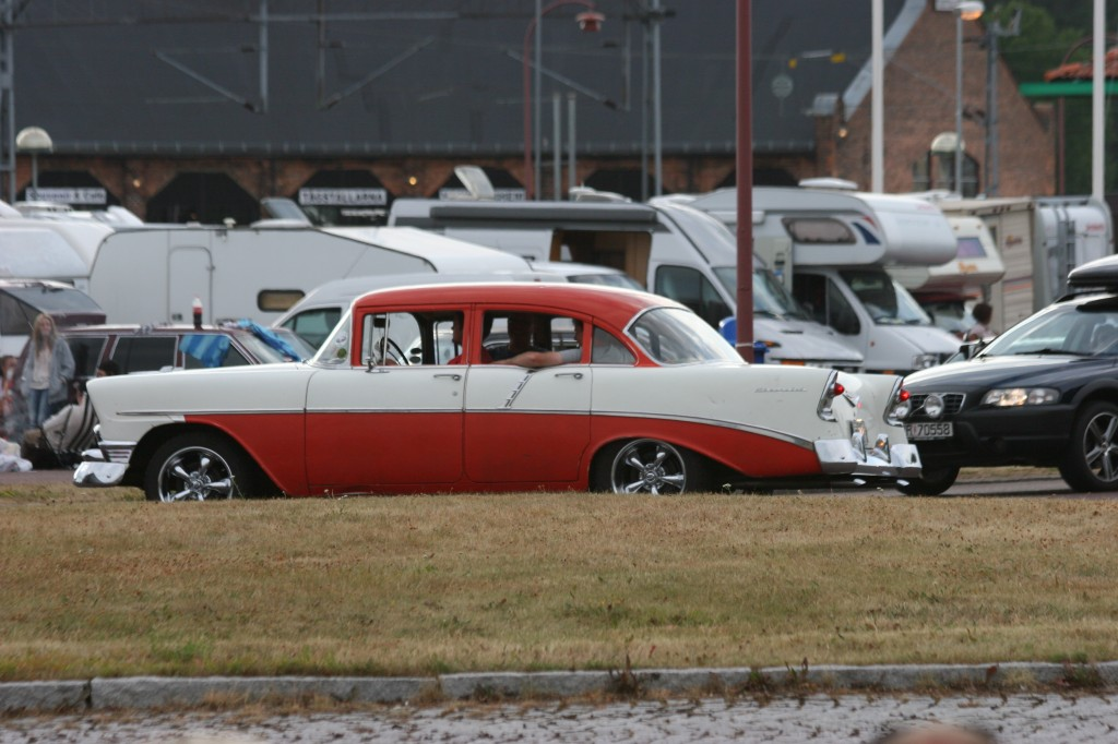 Looks to be a circa 1955 Chevy Bel Air