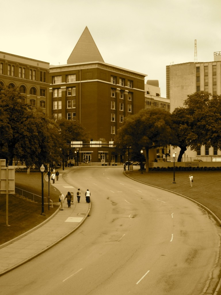 Former Texas School Book Depository at Dealey Plaza in Dallas