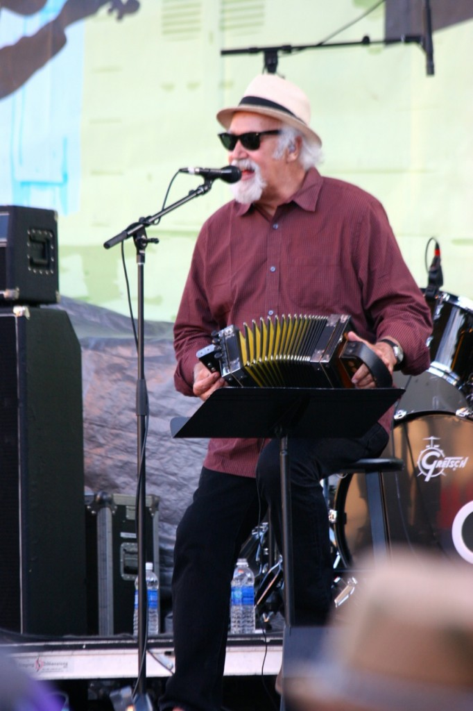 Michael Doucet of Beausoleil       playing his little accordion