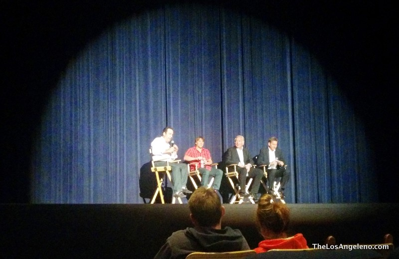 From left the moderator of the Q&A, Director Richard Linklater, Jonathan Sehring President IFC Movies and Producer John Sloss