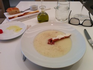 Soup at the Wright in the Guggenheim on Manhattan