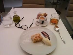 Dessert at the Wright in the Guggenheim on Manhattan
