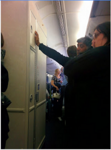 United Airlines Bathroom Line 777 Economy/Economy plus