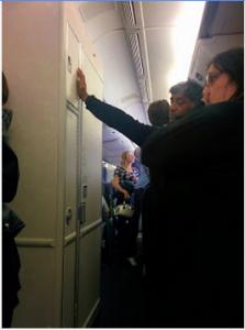 United Airlines Bathroom Line 777 Economy/Economy plus