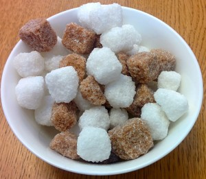 Sugar cubes - the main source of Sir Henry Tate's fortune was the patent for the sugar cube which he acquired.