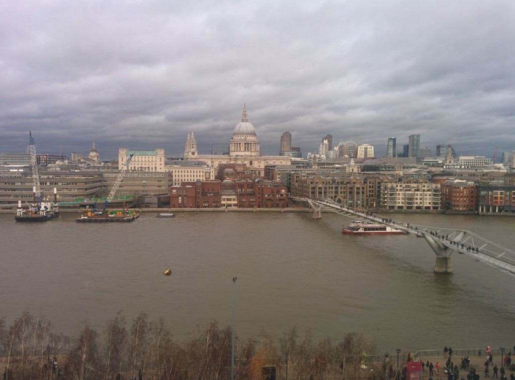 A view from the 6:th ffloor restaurant at Tate Modern, London