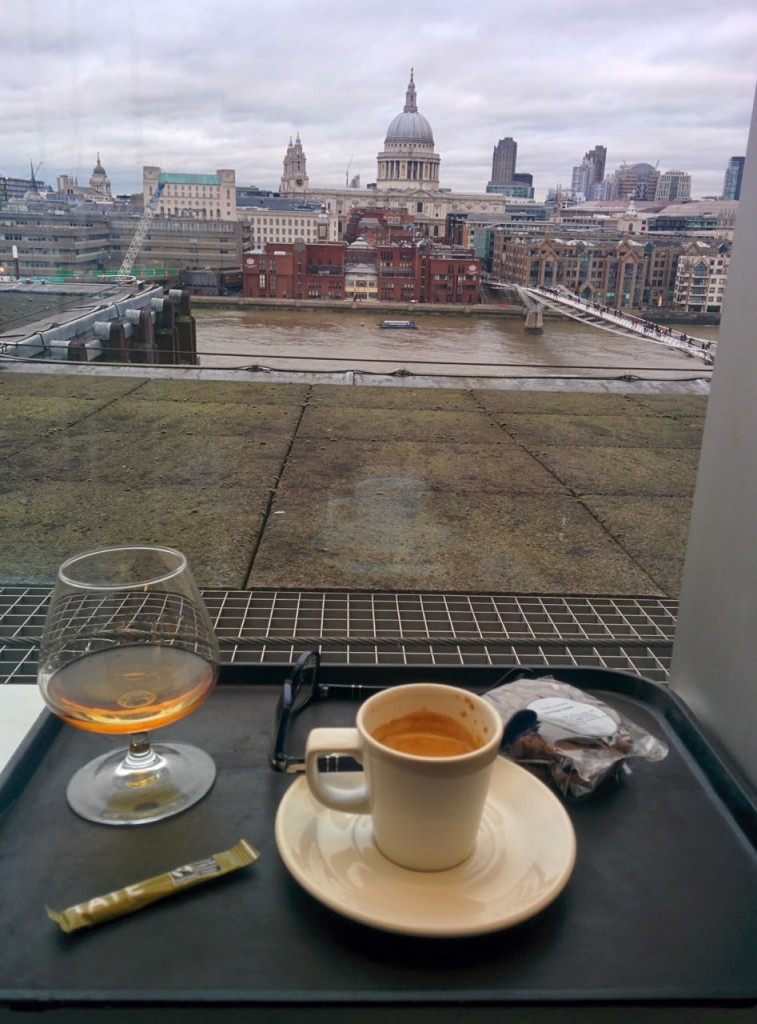 Coffee and Cognac in the Memeber's room at the Tate Modern