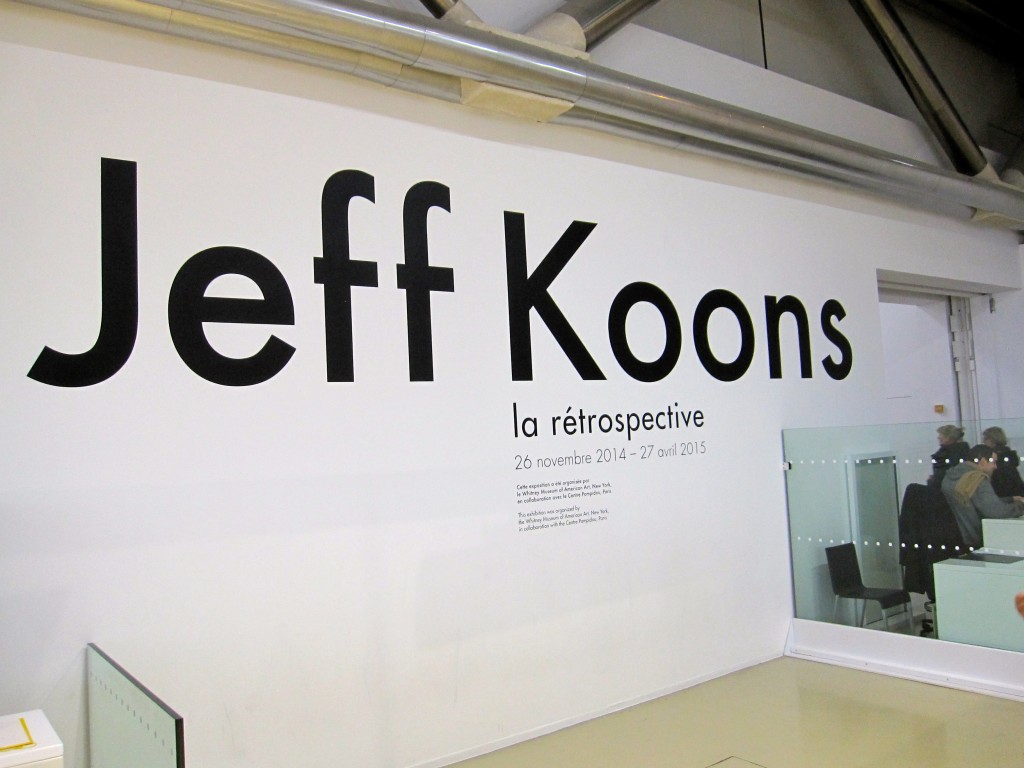 Jeff Koons at the Centre Pompidou November 26 2014 - April 27 2015