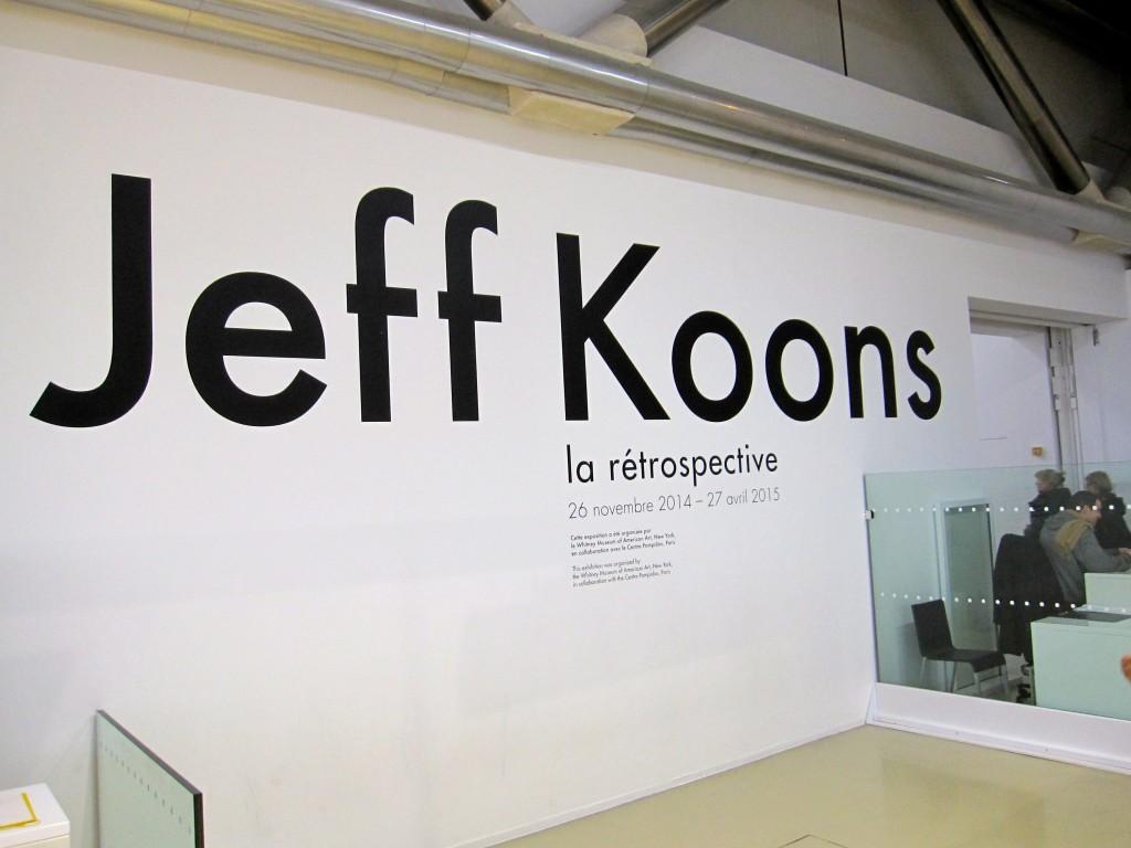 Jeff Koons at the Centre Pompidou November 26 2014 - April 27 2015