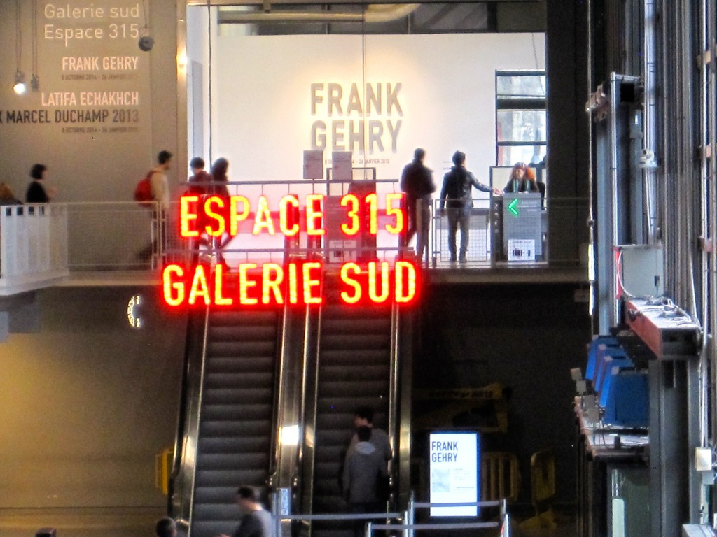 Frank Gehry at the Centre Pompidou in Paris