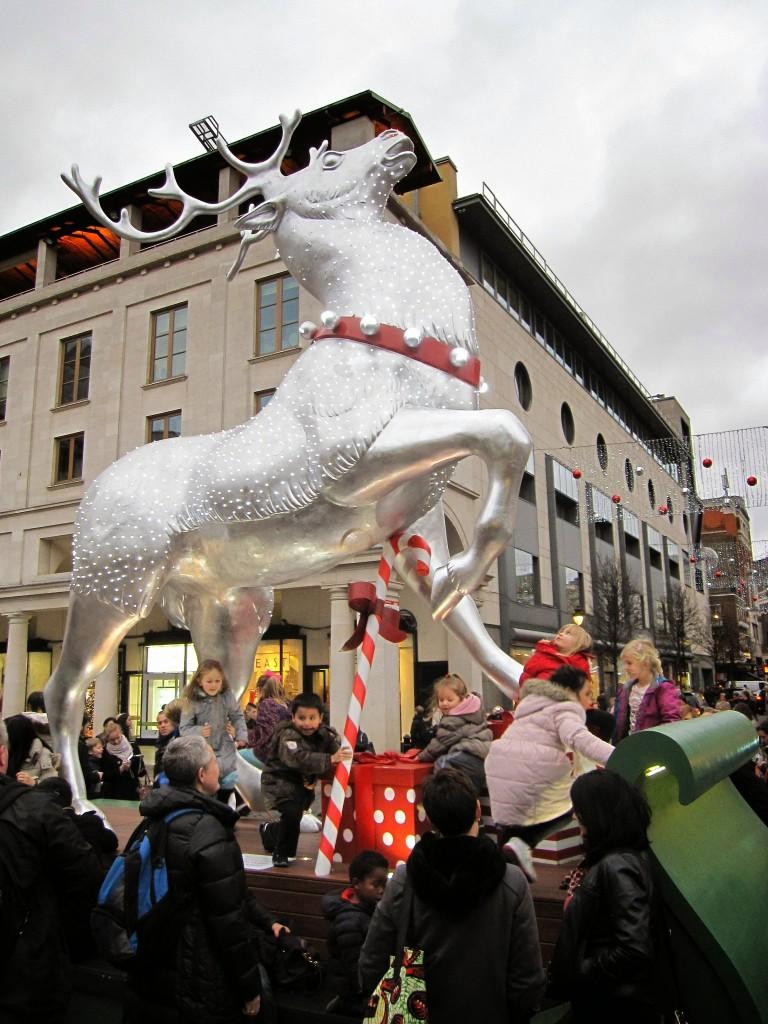 Reindeer in London's Covent Garden area