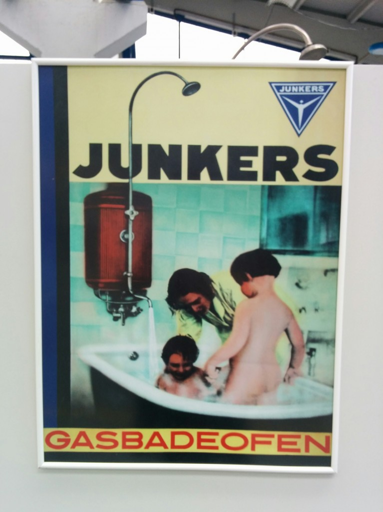 Junkers water heater poster