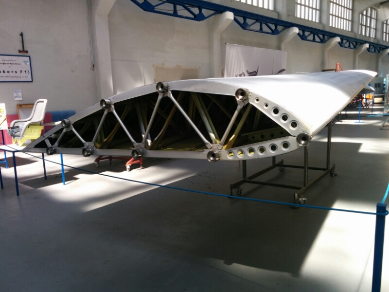 Wing of the worlds first metal aircraft for commercial airline use a Junkers F13 from built 1919-1932