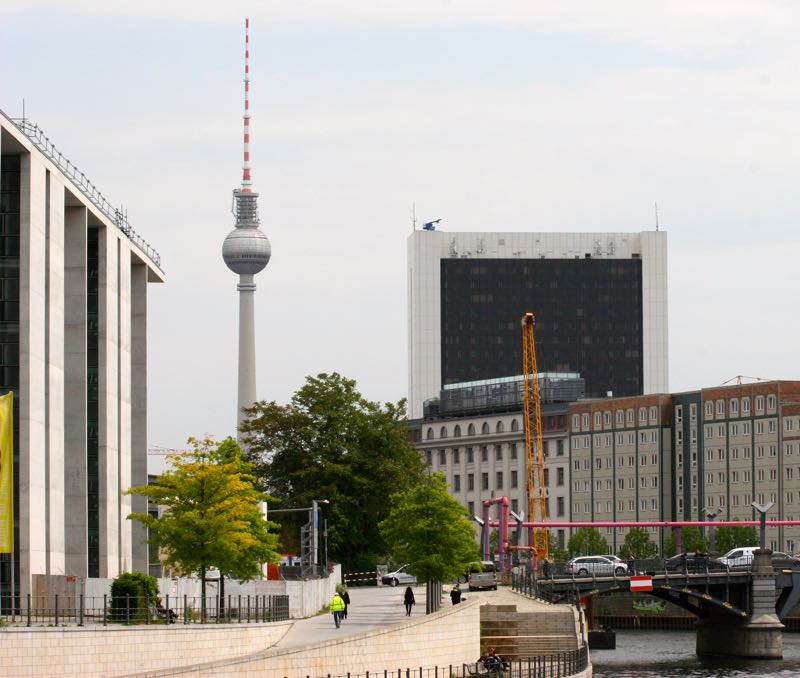 Fernseh Turm Berlin (the Television tower in Berlin) built in the former East  Germany, DDR 1964-1969