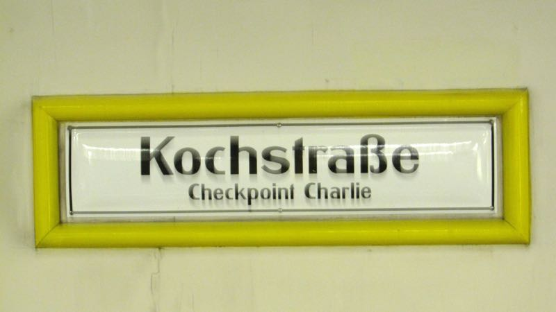 Kochstrasse U Bahn station at Check Point Charlie