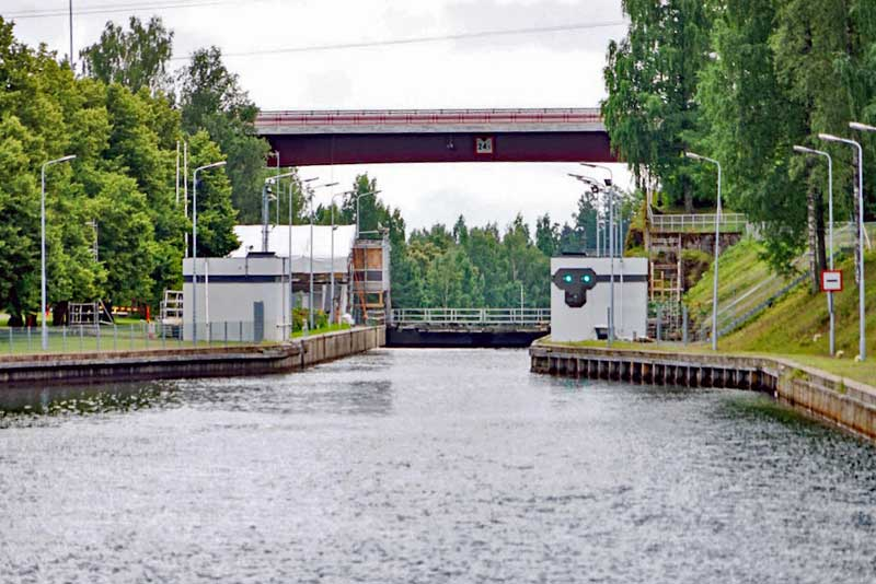 Mälkiä Lock on Saimaa Canal