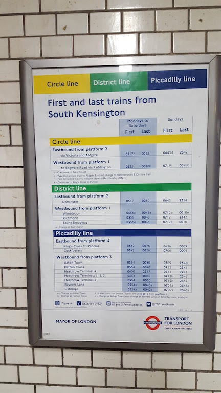 Last Train South Kensington
