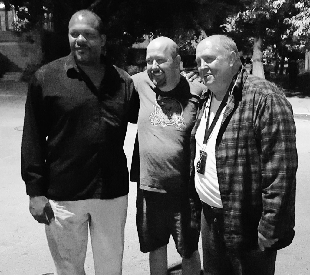 Executive Producer Daniel Wood in the middle with Escalante Lundy (Grady) to the left and Glen Hobgood (Josh) to the right.