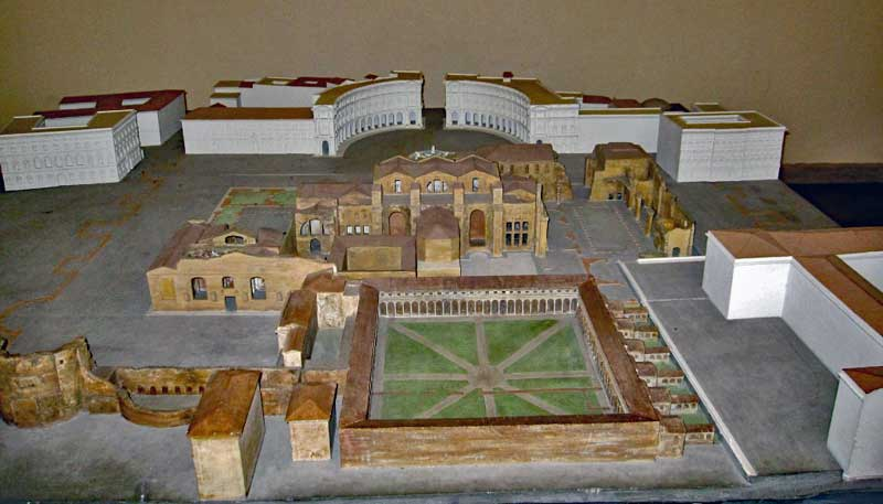 Model of the Diocletian baths in Rome