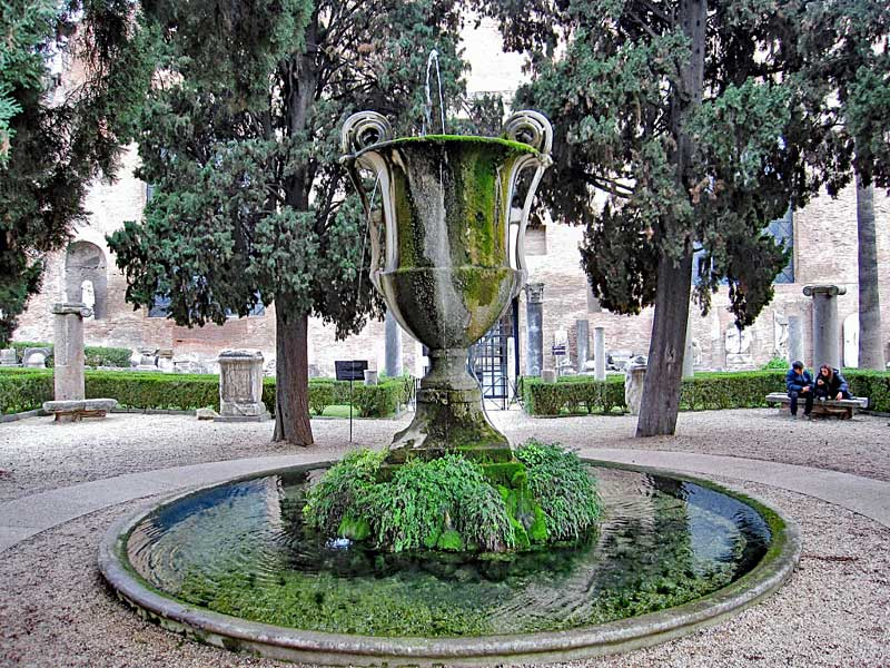Fountain outside the Diocletian baths