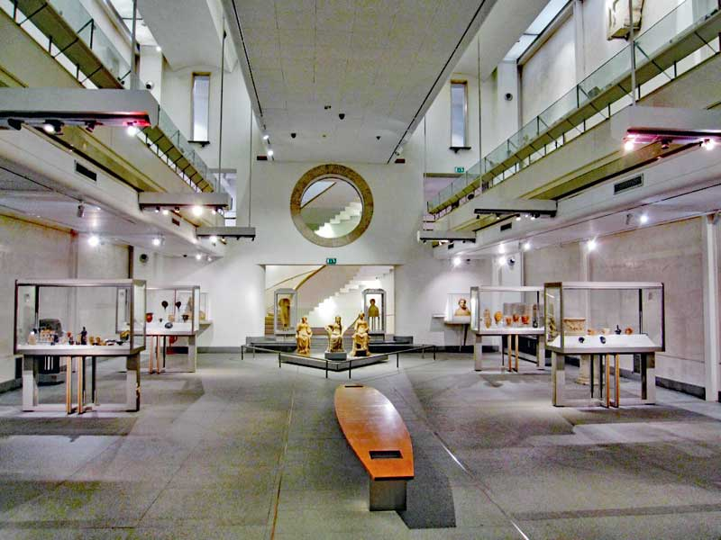 The interior of the new part of the National Roman Museum