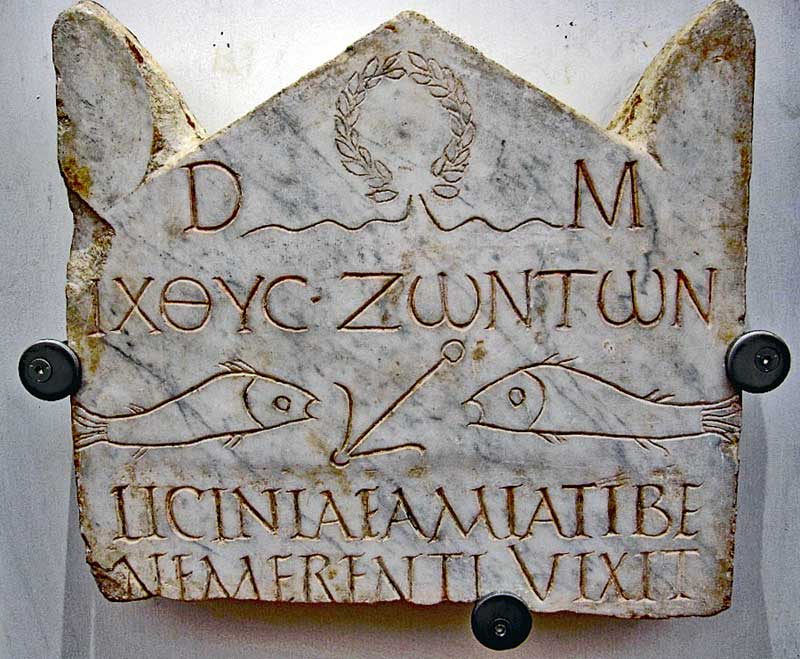 Funeral Stele (stone or wooden slab used as a monument) of Licinia Amias is one of the most ancient christian inscriptions in Rome from the 3:rd century AD.