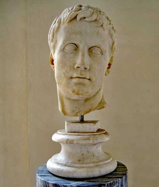 Bust of Gaius Octavius, before he became Augustus, the first Roman Emperor