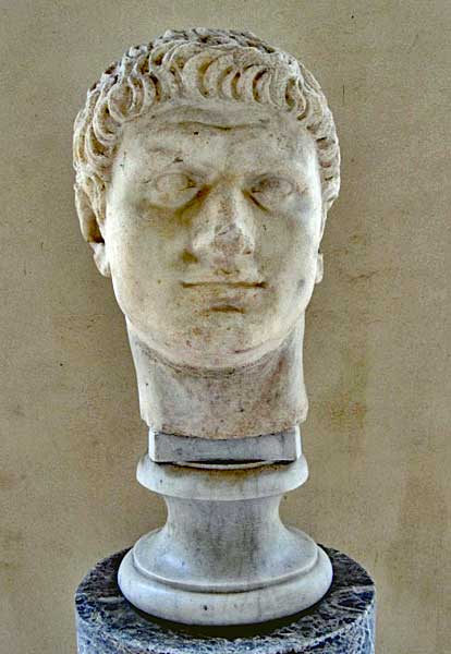 Domitian, the third and last emperor of the Flavian dynasty, emperor 81 - 96.