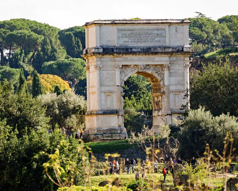 Arch of Titus on via Sacra