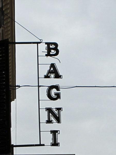 Bagni sign Rome