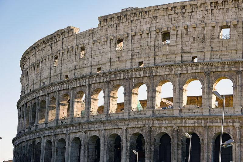 The Colosseum seen from  Via del Fiori Imperiali