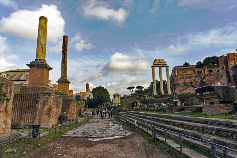 A view of a part of the Forum