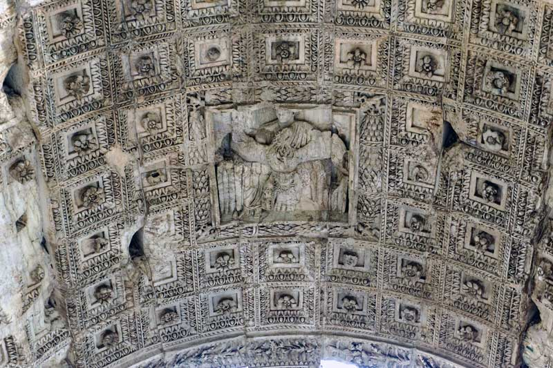 Inside of the arch of Titus