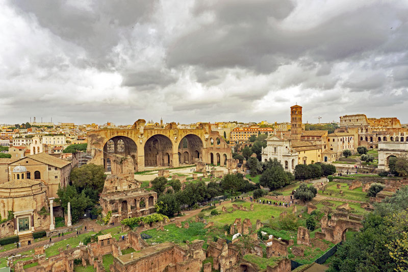 Forum Romanum as viewed from the Palatine hill