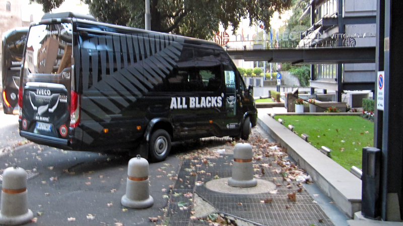 All Blacks Van in Rome