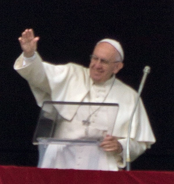 """A closer look at the Pope or """"Il Papa"""" as he is known locally"""