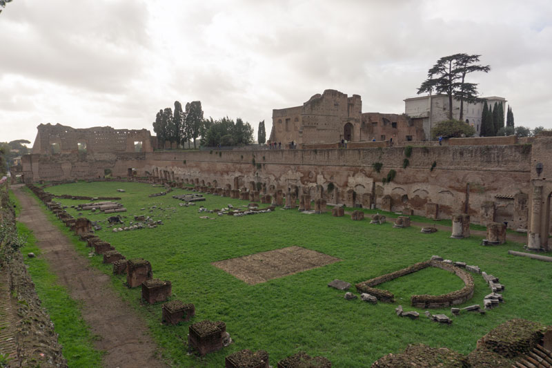 The hippodrome or the Domitian stadium on the Palatian hill