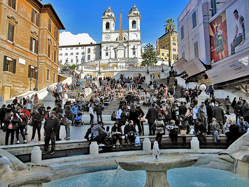 "The Spanish steps - Italian ""Scalinata di Trinità dei Monti"""