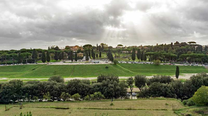 View of the Circus Maximus from the Palatine hill