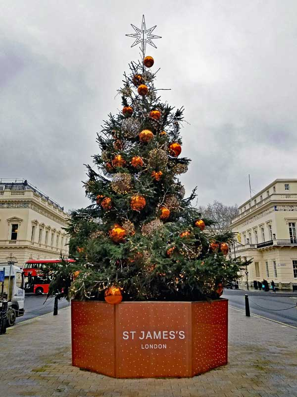 Christmas tree in St James's Place London