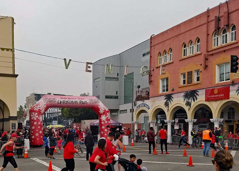 The finish line at Windward and Pacific.