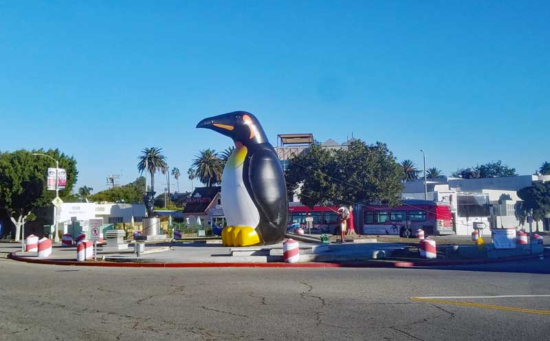 The penguin inside the Windward circle form another angle
