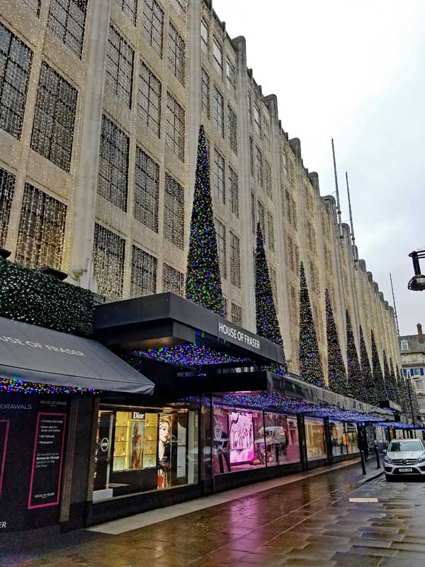 House of Fraser Oxford Street side street entrance