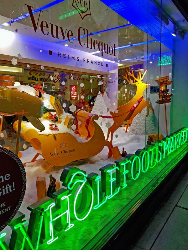 Whole Foods Kensington High Street Veuve Clicquot window display