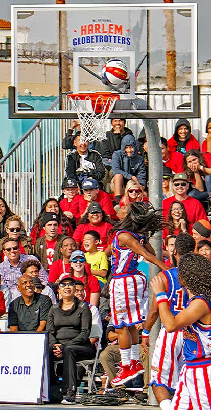 Here is one by one of the female Harlem Globetrotters.