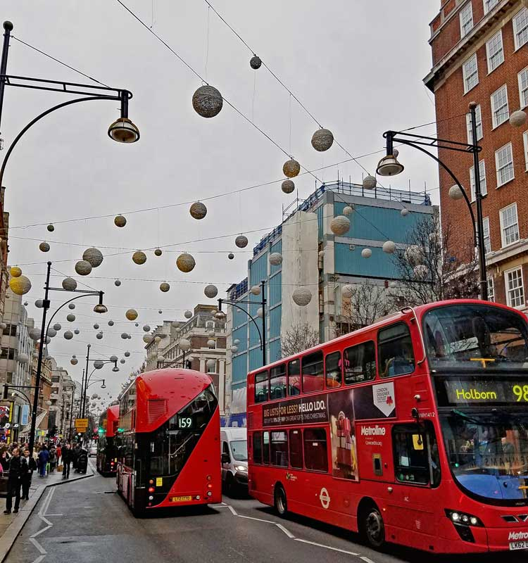 Oxford Street decorations