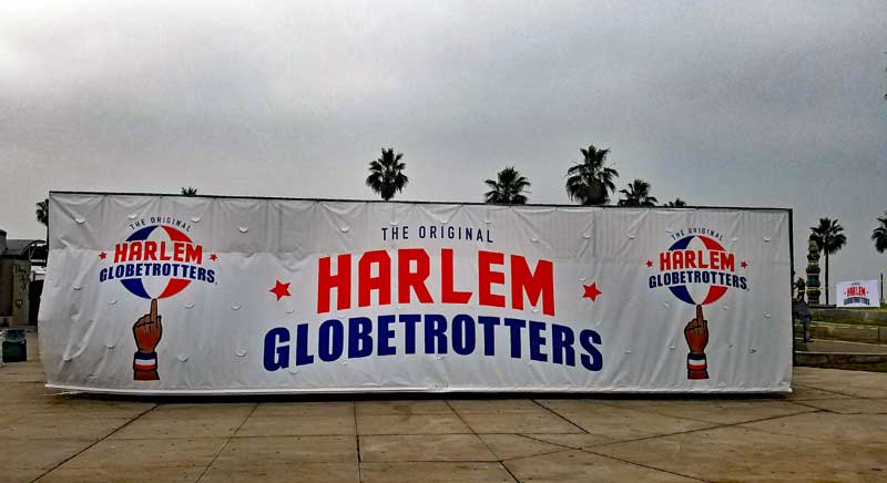 Harlem Globetrotters in Venice California.
