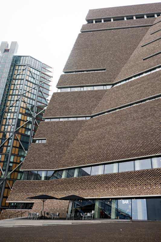 The new Tate Switch House building designed by famed Swiss architectural firm Herzog & de Meuron.