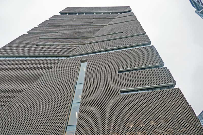 Looking up at the Switch House.